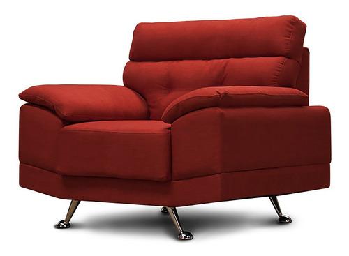 sillón de tela - dublin rojo lino - conforto muebles