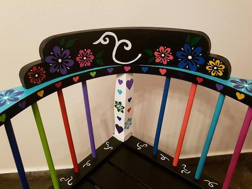 sillon decorado artesanal