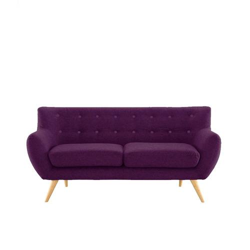sillon diseño nordico oslo 3 cuerpo retro violeta