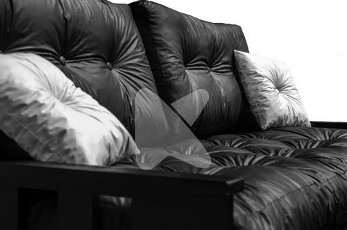 sillon divan cama + carro + colchon ecocuero + mesa +2 puff