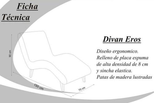 sillón divan relax descanso moderno psicologo tela chenille