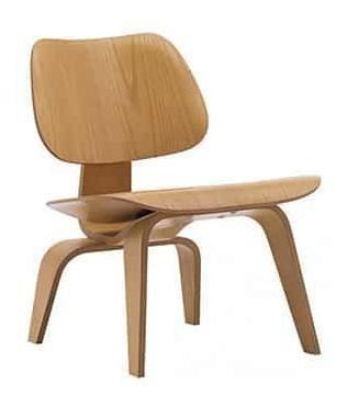 sillón eames lcw replica madera natural