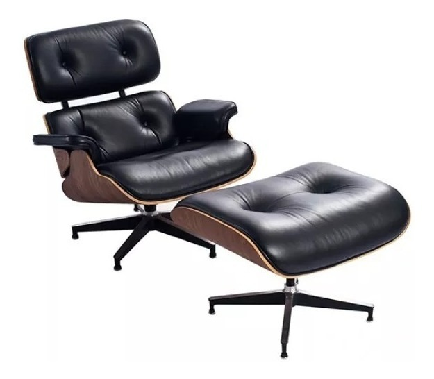 Poltrona Relax Lounge.Sillon Eames Miller Lounge Chair Poltrona Relax Con Otomana