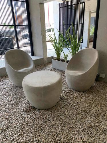 sillon egg fibrocemento diseño cemento exterior