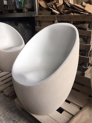 sillon egg fibrocemento diseño mercadolider factura a / b