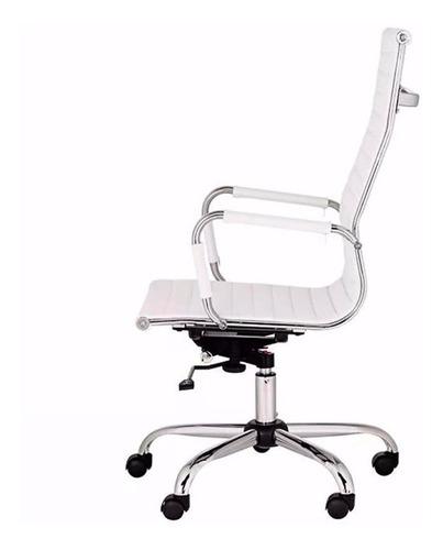 sillón ejecutivo gerencial ecocuero pata cromada - aluminium alta
