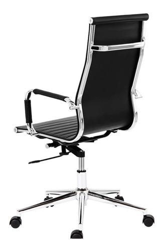 sillón ejecutivo gerencial ecocuero pata cromada - aluminium alta x 2