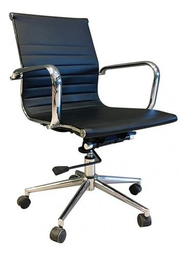 sillón ejecutivo gerencial ecocuero pata cromada - aluminium baja