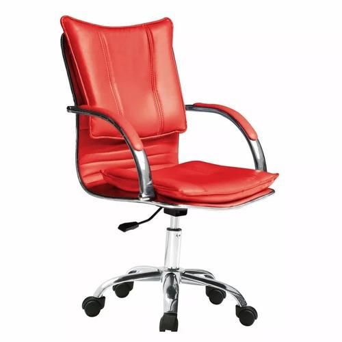 sillon ejecutivo - silla oficina - roja - armado gratis