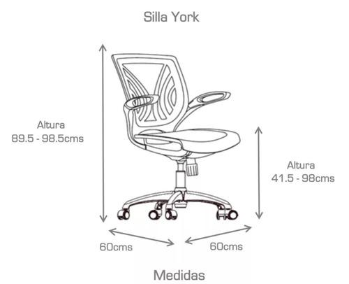 sillón ejecutivo york negro