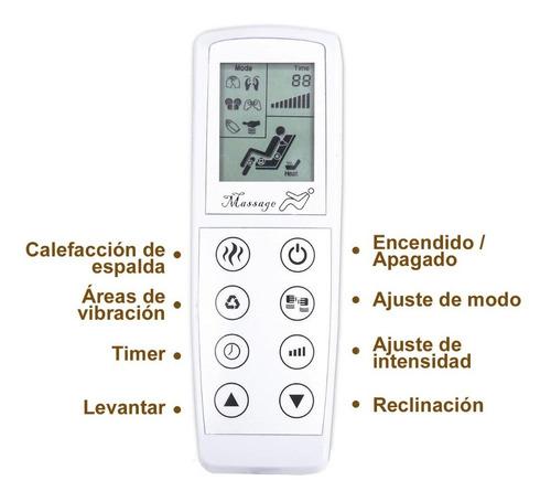 sillon eléctrico reclinable masaje calefacción elevación col
