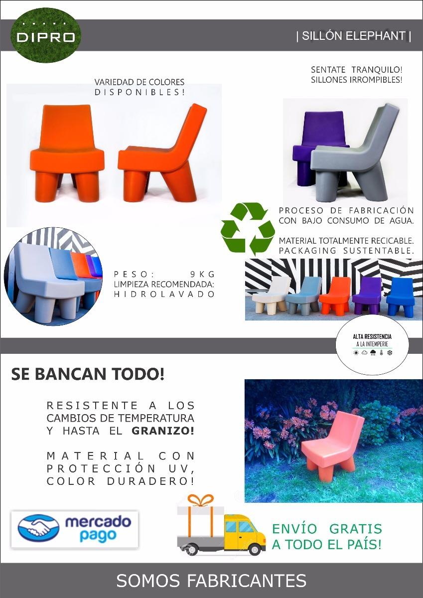 Sillon Elephant Moderno P Exterior Rotomoldeados Polietileno  # Muebles Rotomoldeados