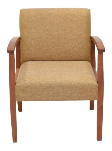 sillón escandinavo madera maciza tapizado forbidan muebles