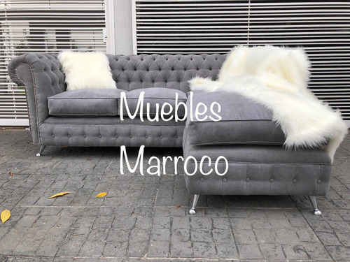 sillon esquinero chesterfield + placa soft !
