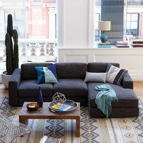 sillón esquinero rinconero chenill premium super soft urban