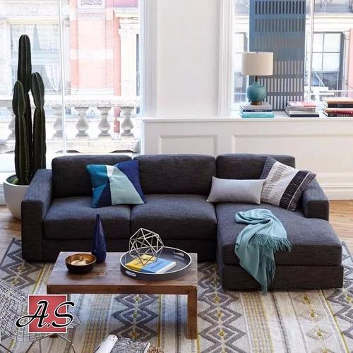 sillon esquinero rinconero living  sofa 1.80 x 1.50 chenille