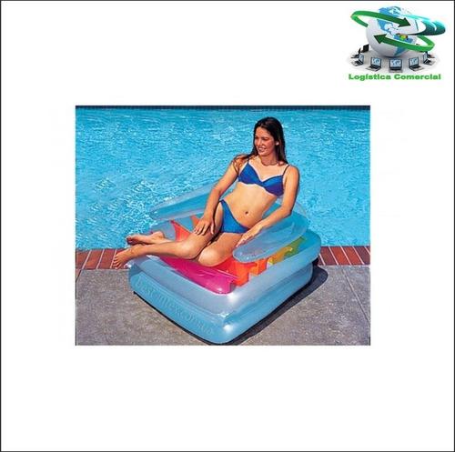 sillon flotador inflable se convierte en colchoneta 58870
