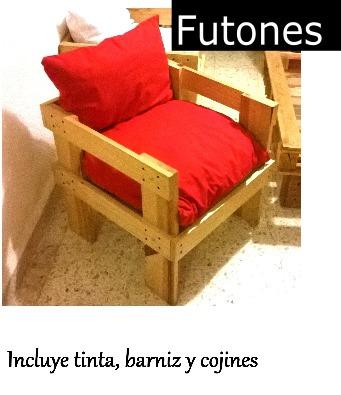Sillon fut n tarimas pallets 1 en mercado libre for Sillon futon precios