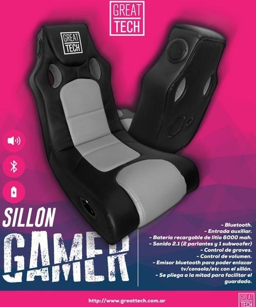 1 Great Tech Sillon Gamer 2 Bluetooth dhCxtBsQr
