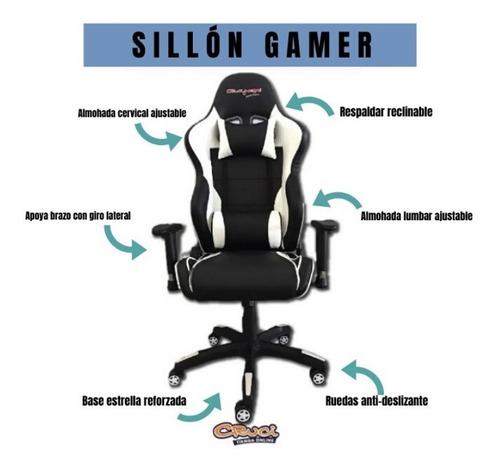 sillón gamer oficina reclinable crucijuegos