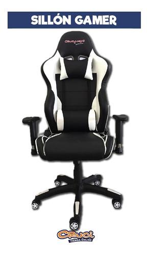 sillón gamer reclinable crucijuegos