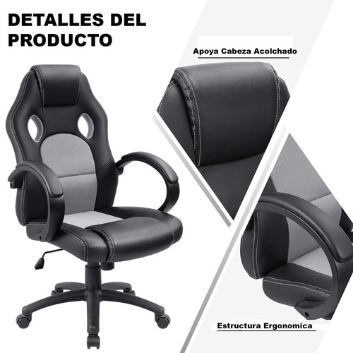 sillon gamer silla gamer pc playstation oficina computadora