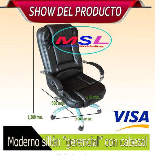 sillón gerencial giratorio y reclinable