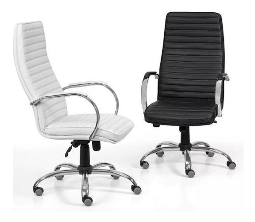 sillón gerencial oficina alto cromado basculante bastoné