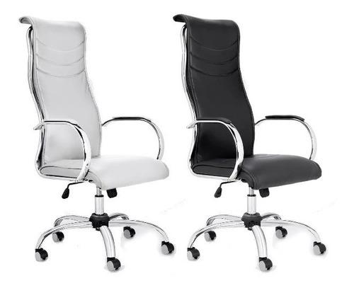 sillón gerencial oficina alto cromado basculante jazz 901