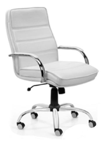 sillón gerencial oficina alto cromado basculante monet 900