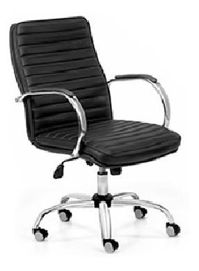 sillón gerencial oficina bajo cromado basculante bastoné