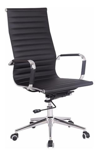 sillón gerencial oficina ejecutivo pc alto cromado 19001