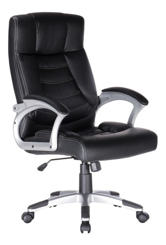 sillón gerencial oficina ejecutivo pc bajo cromado 19002