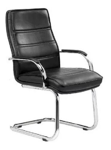 sillón gerencial oficina monet trineo cromado kromo-s
