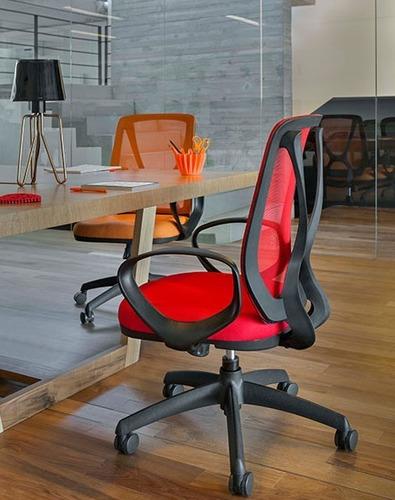 sillón gerencial respaldo alto brazos kromo-s envio