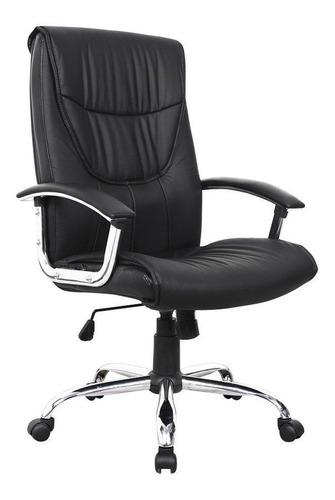 sillon gerencial silla picton negra con ruedas oficina