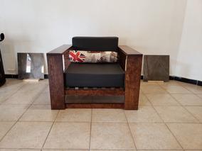 Sillón Individual Elegante Muebles Madera Minimalista Salas