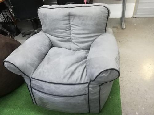 sillón individual gamuza rojo, envío gratis!