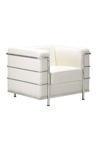 sillon individual modelo fortress con brazos - blanco këssa
