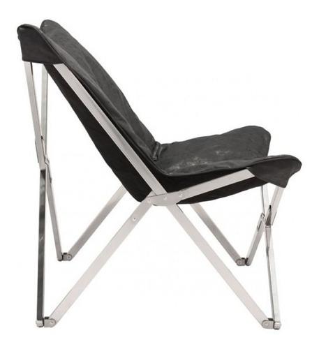 sillon individual modelo sunk - negro këssa muebles