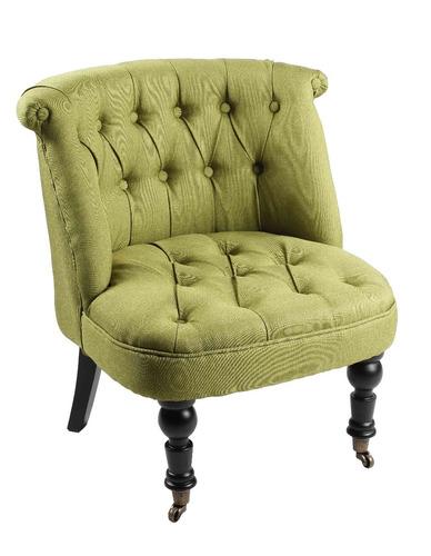 sillon individual tapizado tela vintage retro silla 1 cuerpo