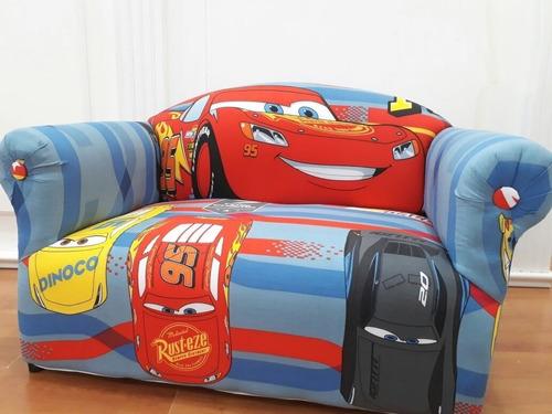 sillón infantil disney 2 cuerpos cars..nuevo! niños - dobles