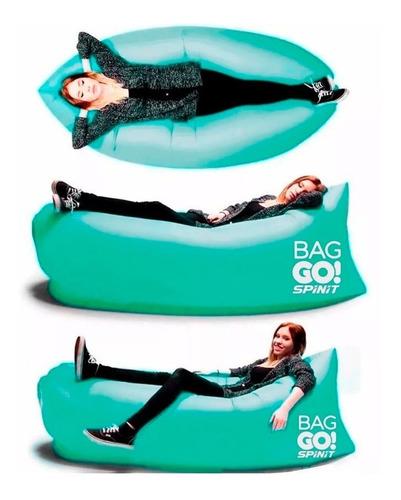 sillon inflable bolsa de aire spinit puff c/ bolsito caba