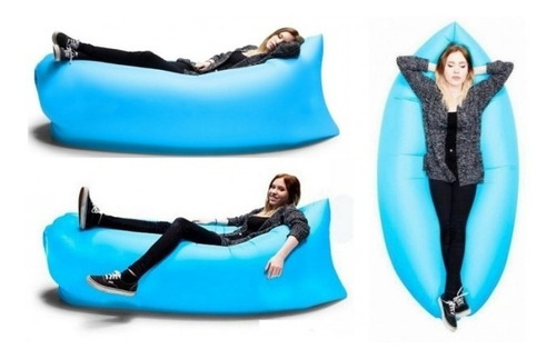 sillon inflable jardin montaña camping living bluokobed