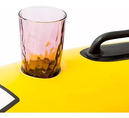 sillon inflable pileta dos puestos con posa vasos cuotas