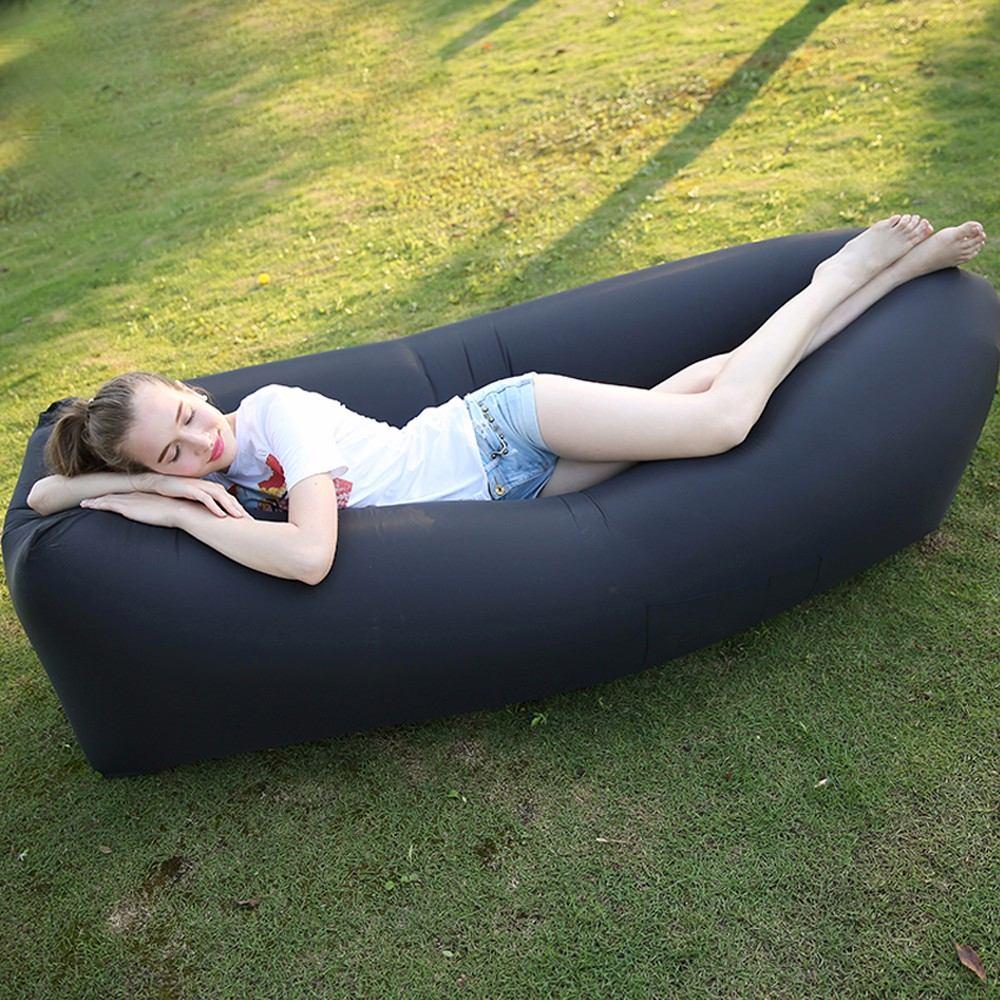 Sillon inflable sofa lay portatil bag cama playa camping for Sofa cama inflable