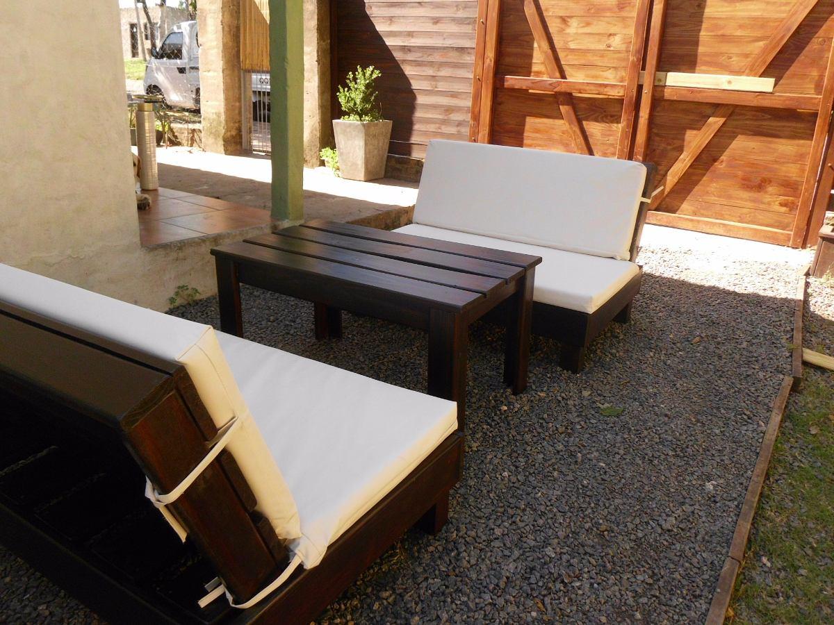 Sill n rustico en madera tratada para jardin exterior - Sillon madera exterior ...