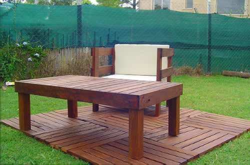 Sillon De Jardin - Exterior Madera - Muebles Jardin - Deck - $ 5.425 ...