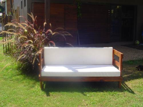 sillon jardin exterior madera muebles jardin