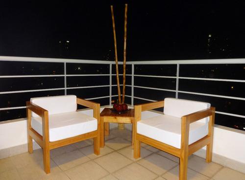 sillón jardín madera exterior